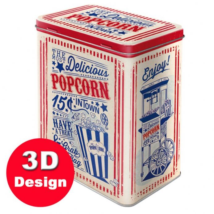 Popcorn - Embossed Storage Tin